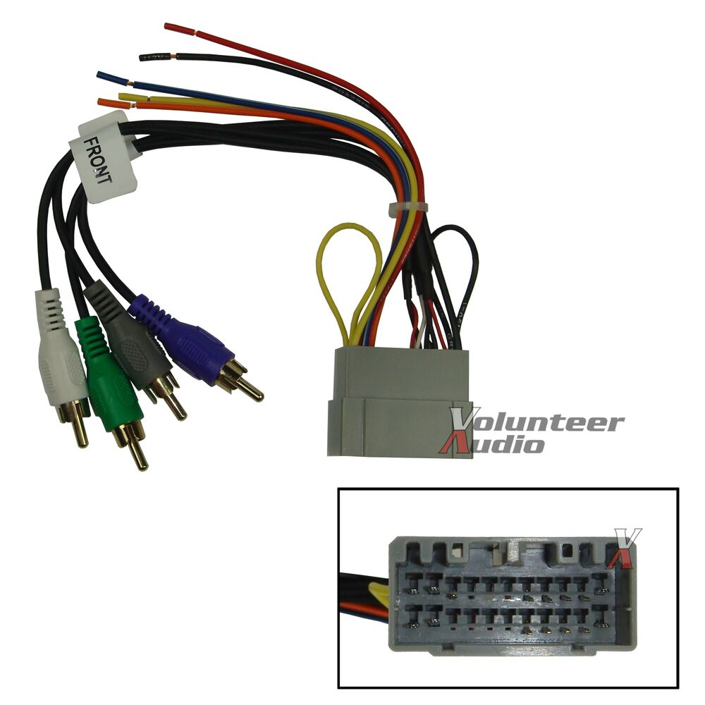 Wiring Harness Car Audio : Dodge jeep car stereo cd player wiring harness wire