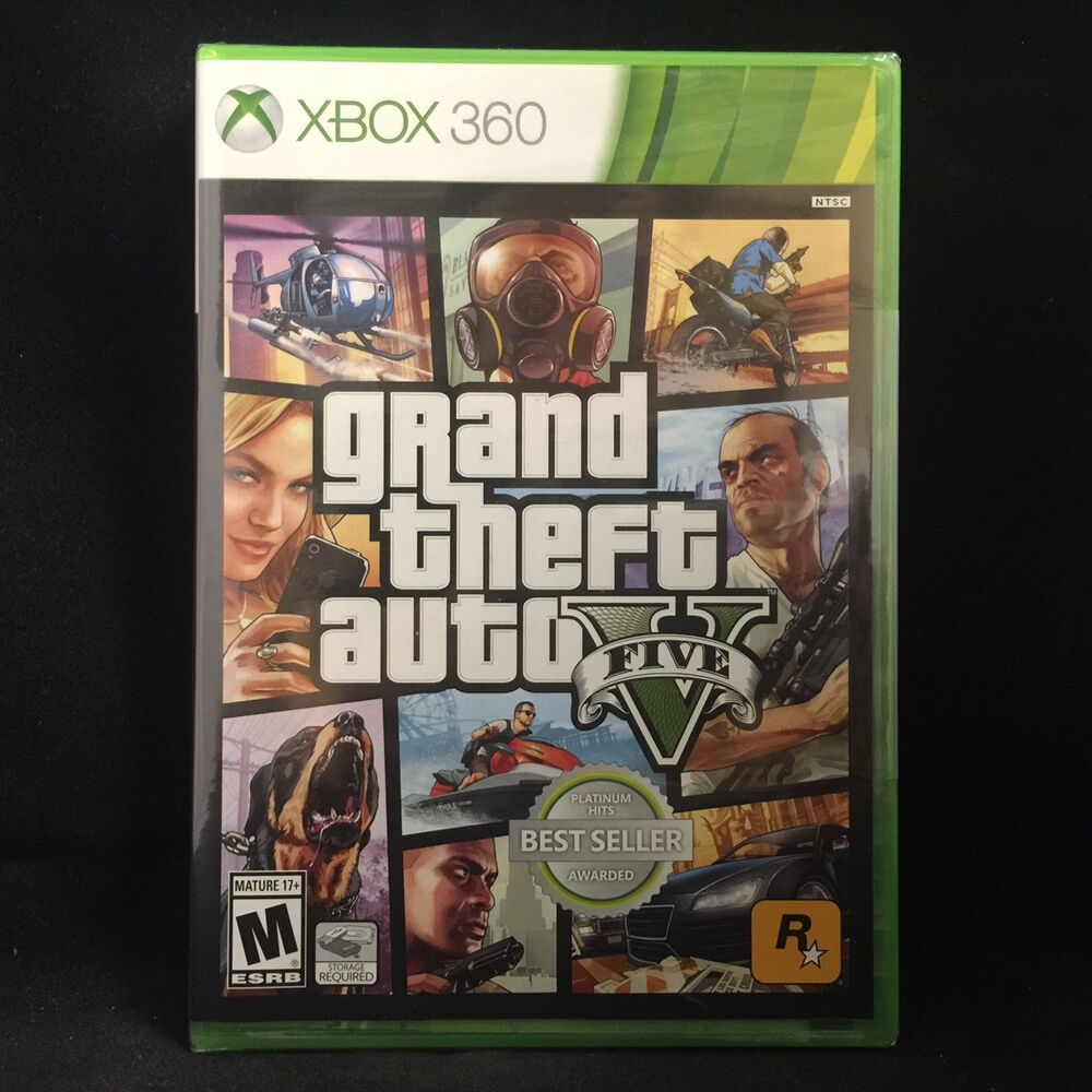 grand theft auto v gta 5 xbox 360 brand new region. Black Bedroom Furniture Sets. Home Design Ideas