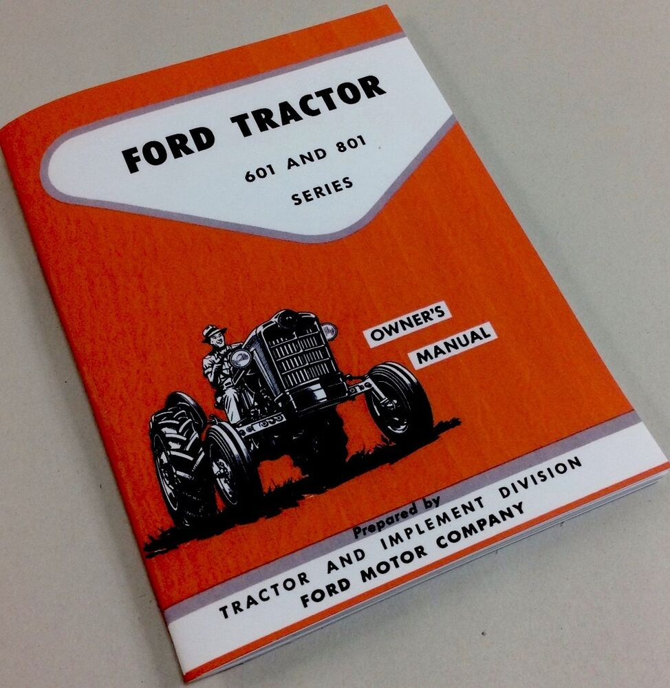 Tractor Manual Thickness : Ford  tractor