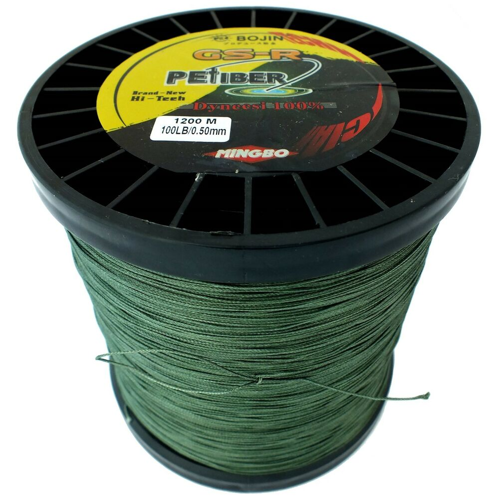 Lr braid fishing line 100lb 1200m green top 8 strand use for What is the best fishing line