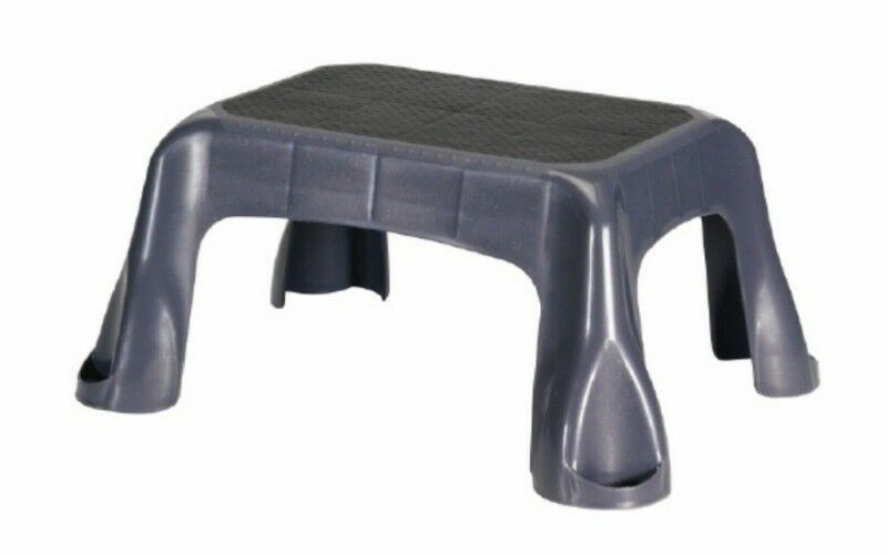 Rubbermaid Step Stool 4b40 New Gray Non Skid Ebay