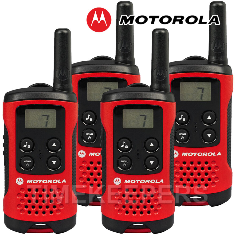 4km motorola tlkr t40 walkie talkie 2 two way pmr 446 compact radio quad set ebay. Black Bedroom Furniture Sets. Home Design Ideas