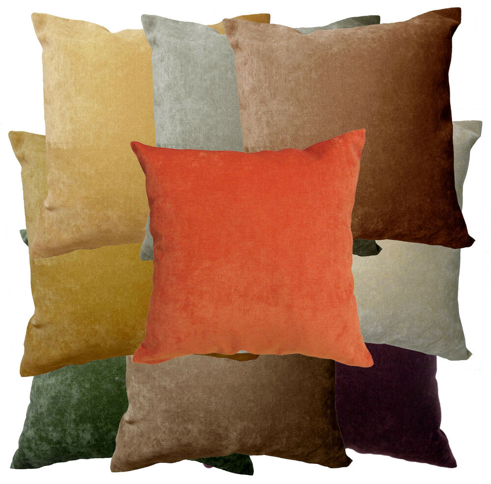 Ma Soft Velvet Style Plain Color Sofa Fabric Cushion Cover
