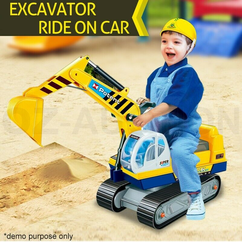 Construction Riding Toys For Boys : Ride on car kids digger pretend play excavator power