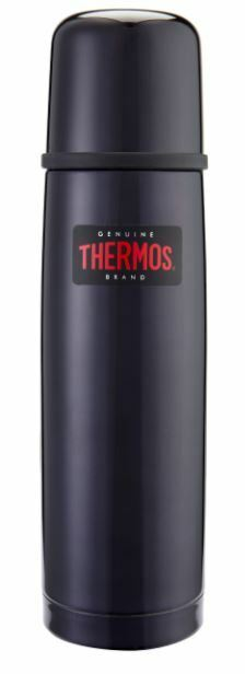 thermos light compact midnight blue 1 litre flask ebay. Black Bedroom Furniture Sets. Home Design Ideas