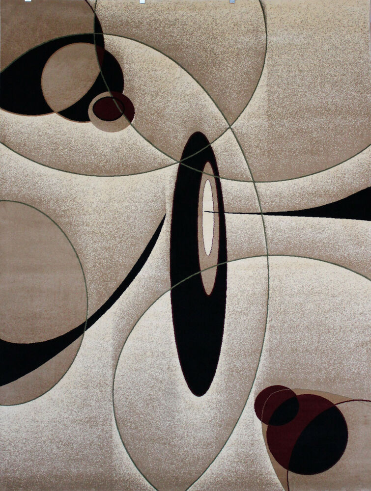 New City Brand New Contemporary Brown And Beige Circles