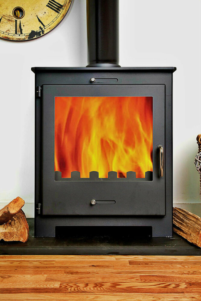 11kw Nero Pressure Back Boiler Contemporary Woodburning Stove Stoves Multi Fuel Ebay