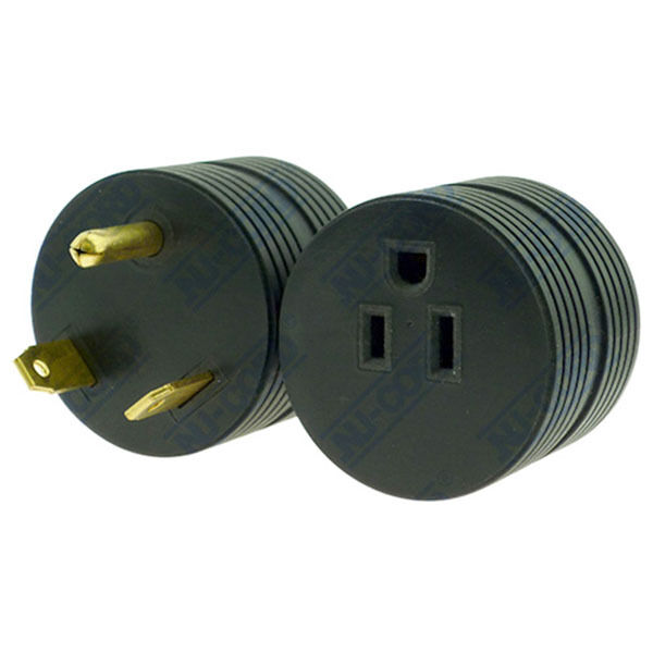 Rv Electrical Adapter Plug 30 Amp Male To 15 Amp Female