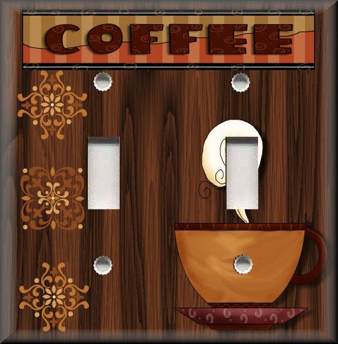 Metal Light Switch Plate Cover Cafe Kitchen Home Decor Cup Of Coffee Decor Ebay
