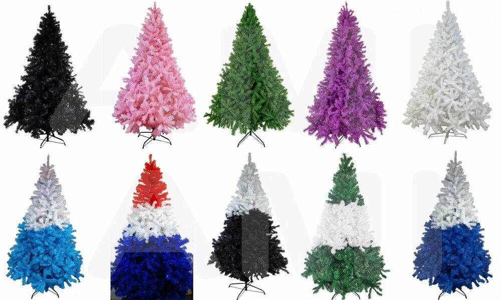 7ft/2.1m TOP QUALITY BUSHY ARTIFICIAL COLOURED CHRISTMAS