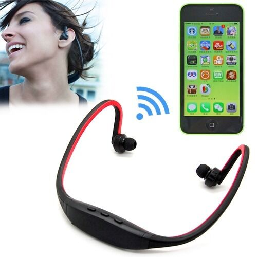 wireless bluetooth sport stereo headphone headset for iphone 5 5s 5c 4 4s ipod ebay. Black Bedroom Furniture Sets. Home Design Ideas