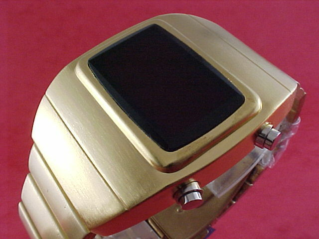 GOLD 1970s Old Vintage Style LED LCD DIGITAL Rare Retro ...