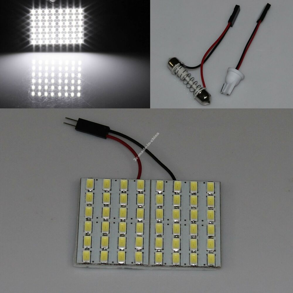 white car 48 smd 5630 led panel light dome interior bulb. Black Bedroom Furniture Sets. Home Design Ideas