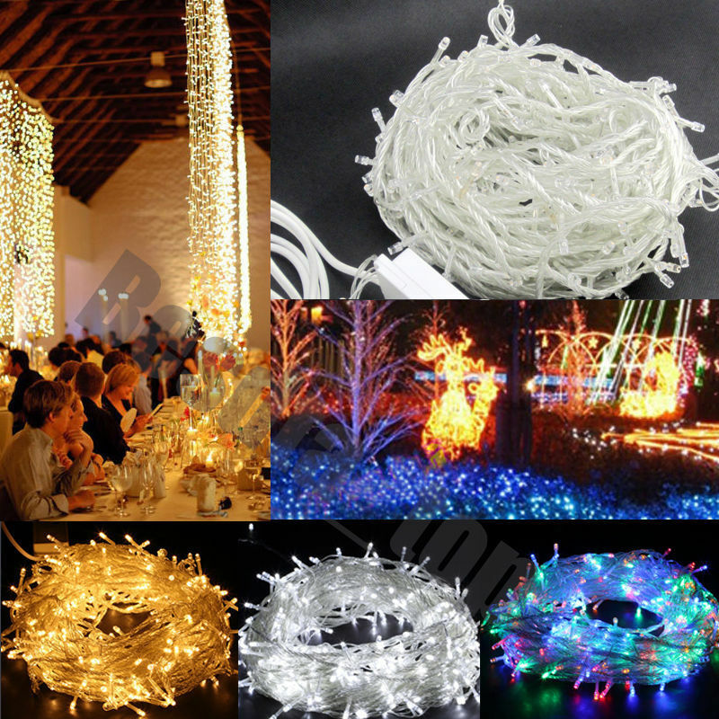 Led String Lights For Christmas Trees : 100 200 300 500 1000 LED String Fairy Lights Party Christmas Tree Xmas Wedding eBay