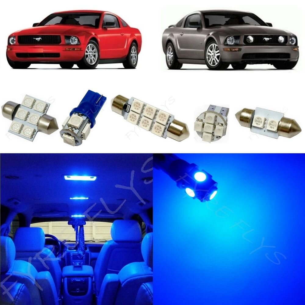10x Blue Interior Led Lights Replacement Package Kit Fit: 5x Blue LED Lights Interior Package Kit For 2005-2009 Ford