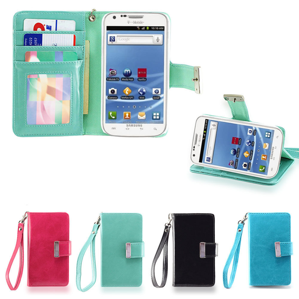 IZENGATE Samsung Galaxy S2 T989 T-Mobile Wallet Case PU Leather Flip Cover Folio | eBay