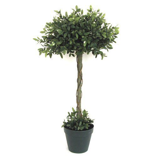 Two Become One Decorative Trees: 3ft Potted Artificial Verbena Topiary Tree