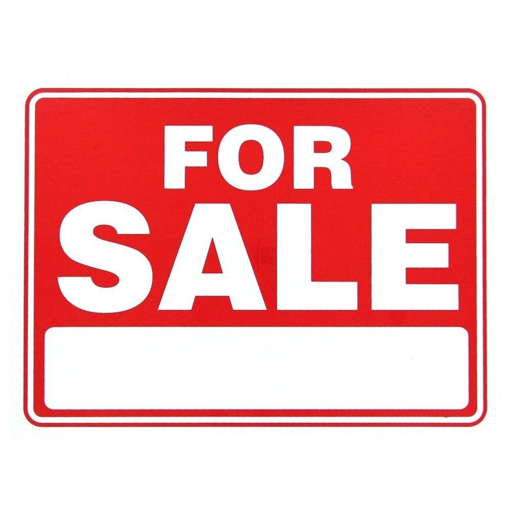 "For Sale Sold Sign: For Sale Plastic Sign 12""x9"" (S-1)"
