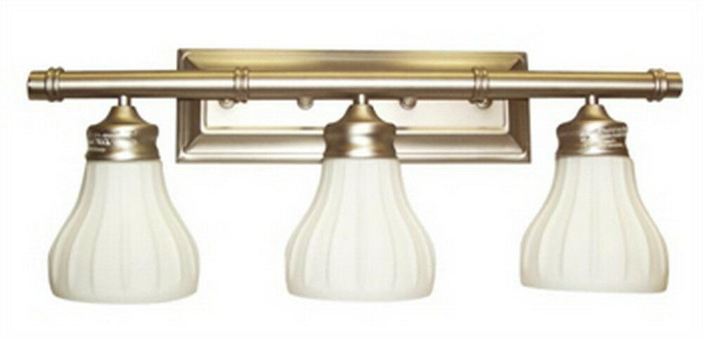 vintage bathroom light fixtures antique brass 3 light bath wall fixture ebay 21219