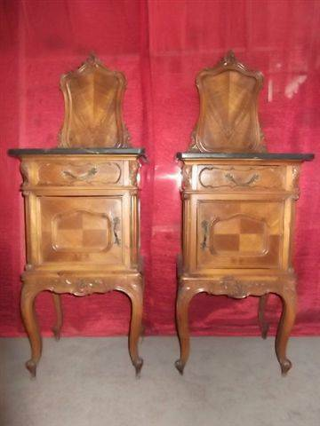 Victorian Italian Marble Top Antique Bedroom Set Night Stands 13it072c Ebay