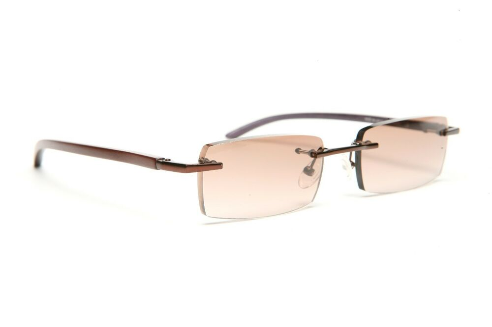 Rimless Gold Eyeglass Frames : GOLD AND WOOD RIMLESS EYEGLASSES GLASSES SUNGLASSES A02.33 ...