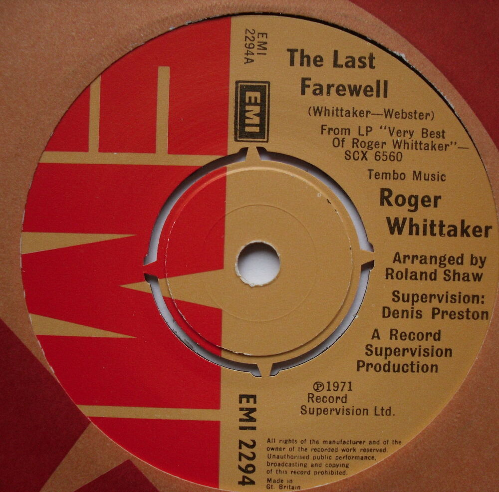 a review of the story of roger whittaker and the last farewell In concert last farewell is een cd (album) van roger whittaker  artiest( en): roger whittaker cd (album) 1  reviews last farewell: live in concert toon details  schrijf een review live de beste  the whole story kate bush.