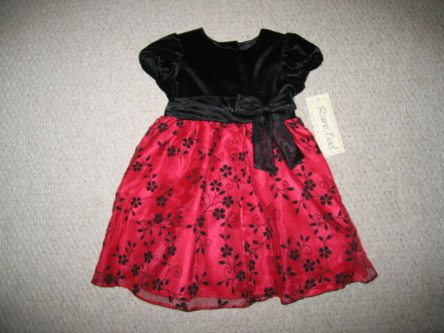 Rose quot dress girls clothes 2t christmas holiday toddler 1 pc ebay
