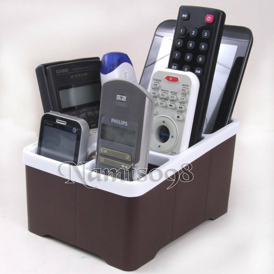 tv game video audio phone caddy remote controller organizer storage box holder ebay. Black Bedroom Furniture Sets. Home Design Ideas