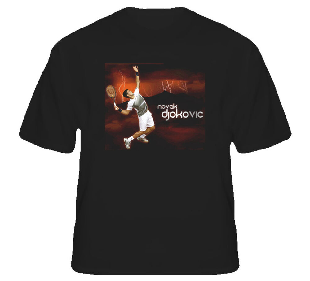 novak djokovic tennis t shirt ebay. Black Bedroom Furniture Sets. Home Design Ideas