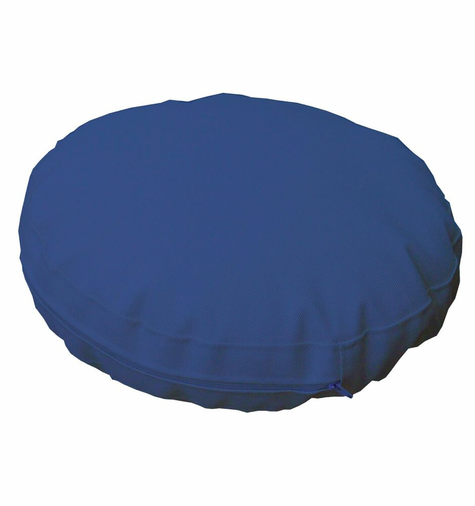 pa807r Blue Round Water Proof Outdoor Thick Mattresses Cushion Cover Custom S