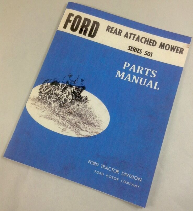 ford series  rear attached mower parts manual catalog