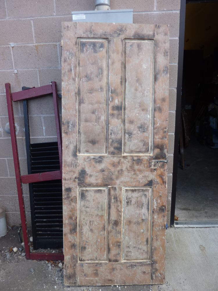Early 19th Century Raised Panel Door W Smoked Design