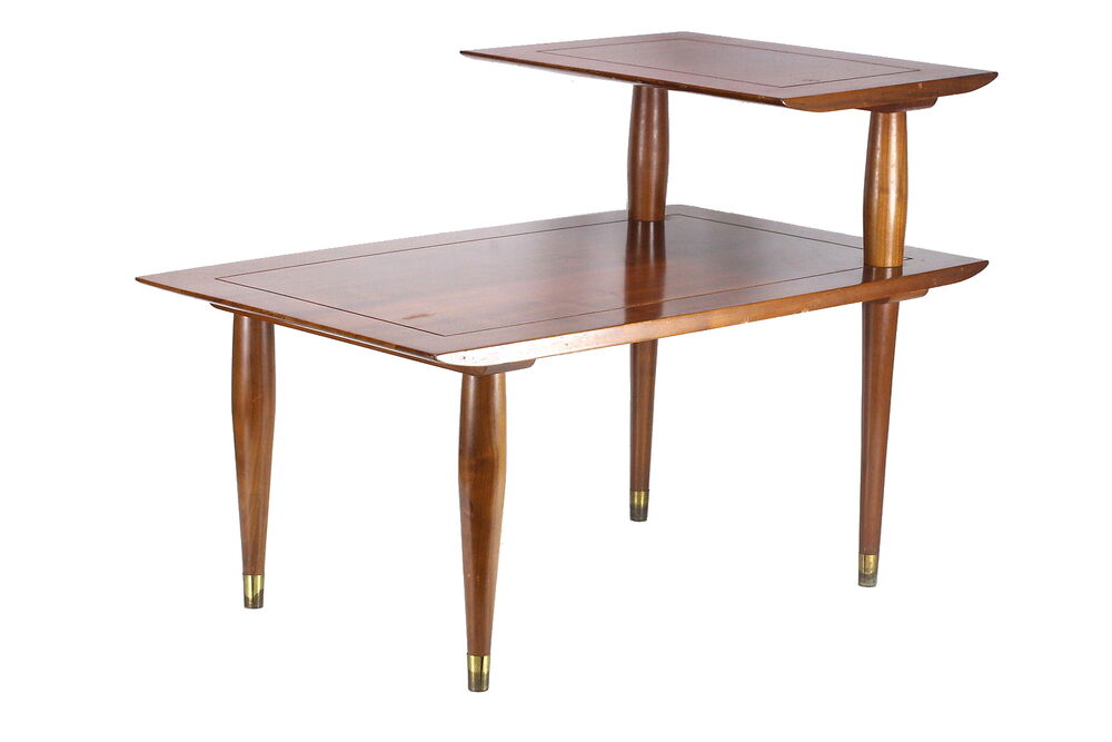 Bissman 1959 vintage end table mid century danish modern for Mid century modern wood furniture