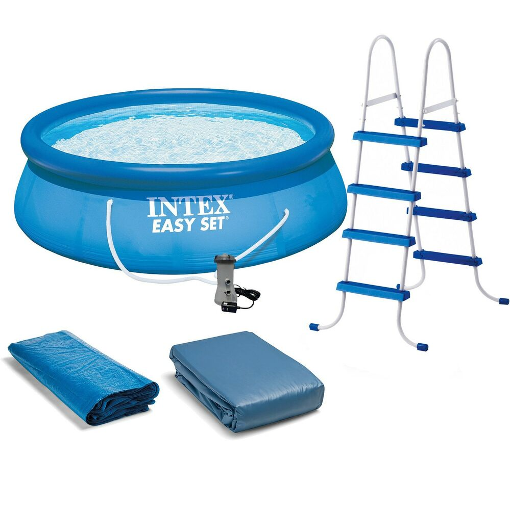 intex 15 39 x 48 easy set swimming pool kit w 1000 gph. Black Bedroom Furniture Sets. Home Design Ideas