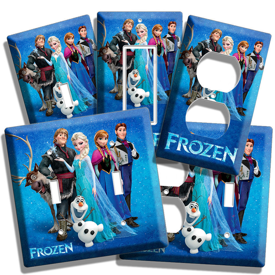 disney frozen anna elsa hans olaf bedroom room decor light 15172 | s l1000