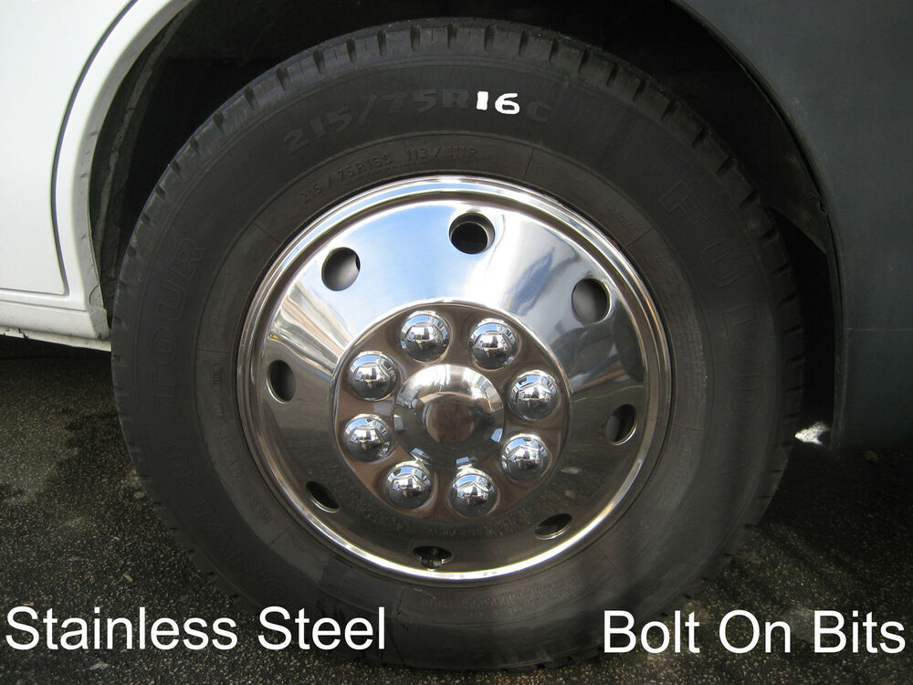 Stainless wheel trims for r 16 tyres mercedes sprinter vw for Mercedes benz sprinter wheel covers
