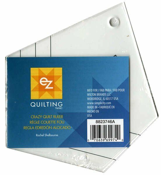 Crazy Quilt Ruler, 5 Sided Ruler for Crazy Quilts, EZ Quilting 8823746A eBay