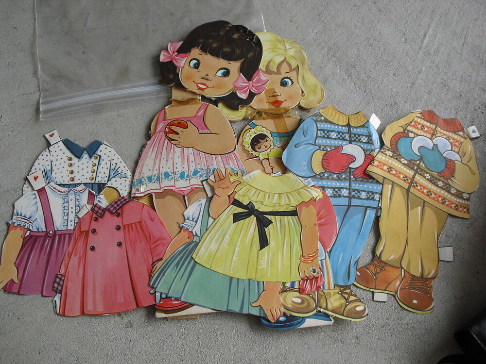 unique lot of vintage paper doll clothes and dolls look ebay