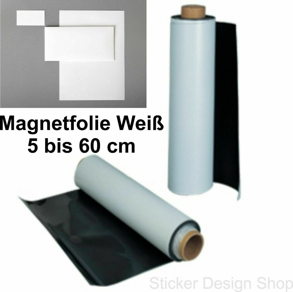 magnetfolie magnetschild auto kfz werbung wei magnet folie magnetstreifen ebay. Black Bedroom Furniture Sets. Home Design Ideas