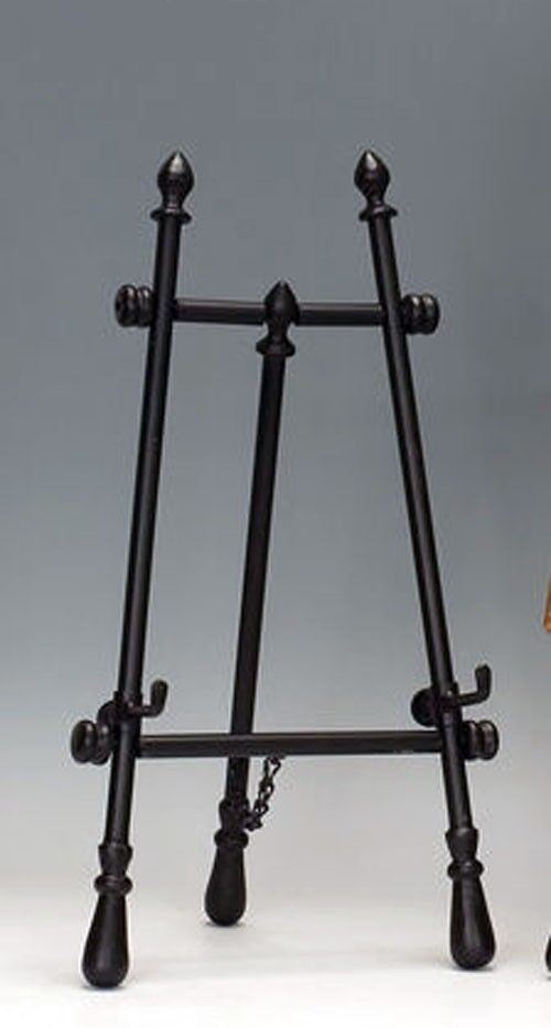 Small Black Floor Easel Folding Plate Or Book Stand