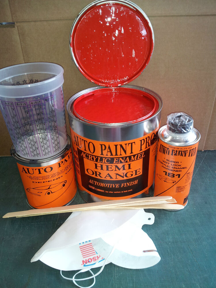 hemi orange acrylic enamel single stage restoration auto body shop car paint kit ebay. Black Bedroom Furniture Sets. Home Design Ideas