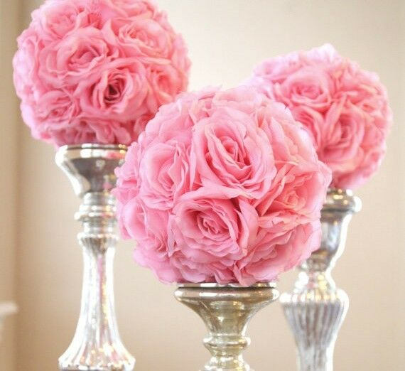 Silk flower kissing balls wedding centerpiece inch ebay