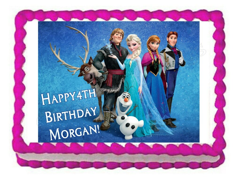Frozen edible party cake topper decoration frosting sheet ...