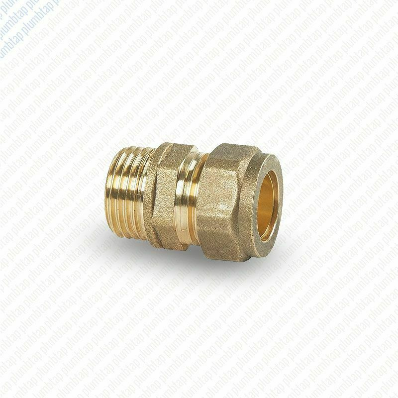 Brass compression male iron straight pipe plumbing
