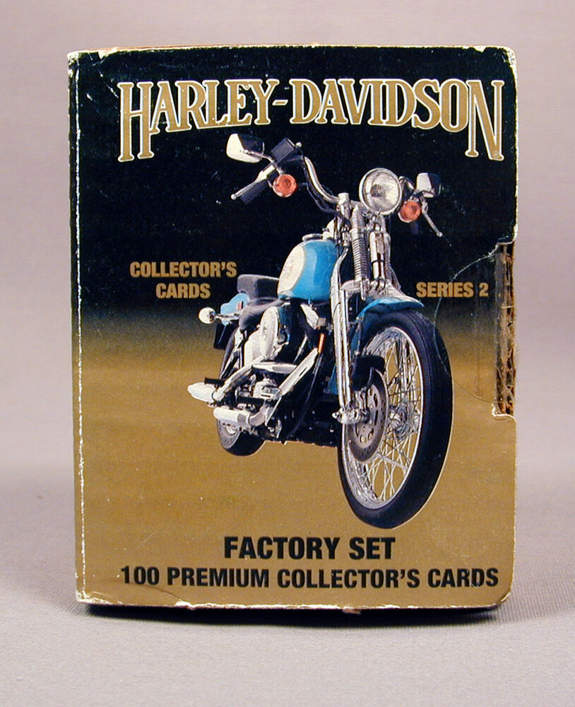 harley davidson 100 collector cards series 2 factory set 1992 free shipping ebay. Black Bedroom Furniture Sets. Home Design Ideas
