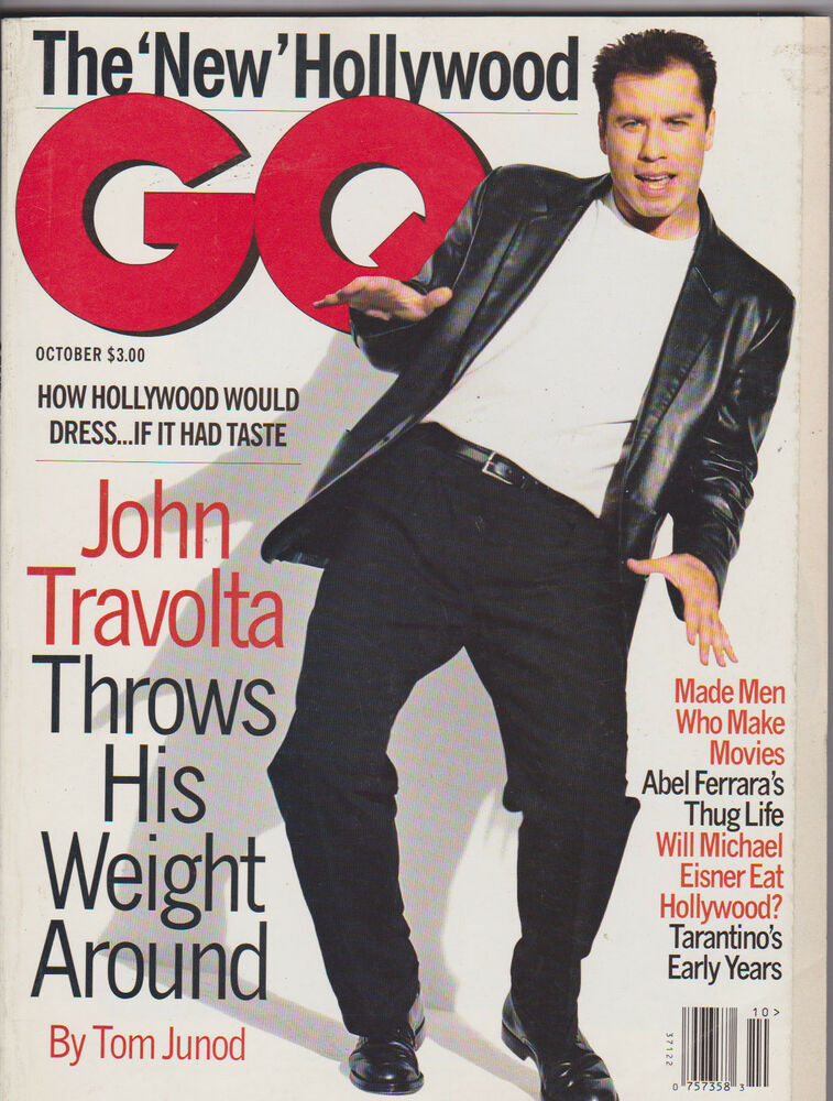 Oct 1995 Gq Vintage Mens Fashion Magazine John Travolta Ebay