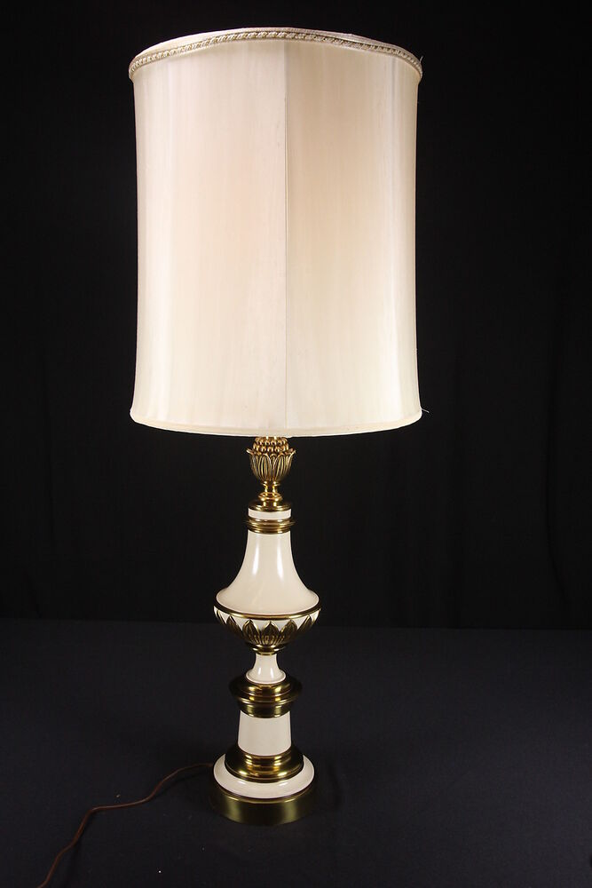 Vintage Stiffel Company Electric Table Lamp Brass Mid