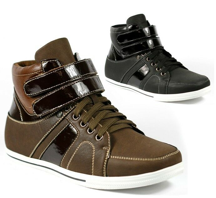 delli aldo mens high top lace up fashion sneakers ankle
