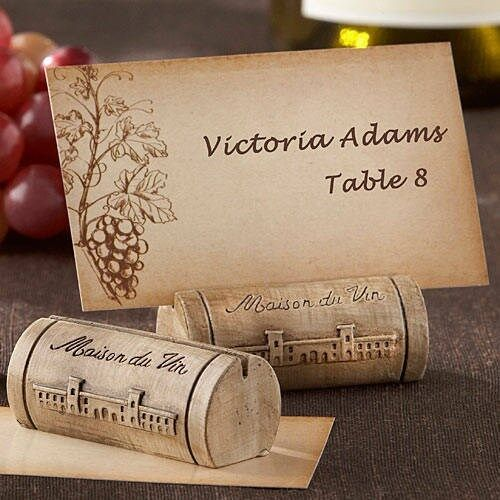 Place Cards 12 Maison Du Vin Wine Cork Place Card Holders And Cards
