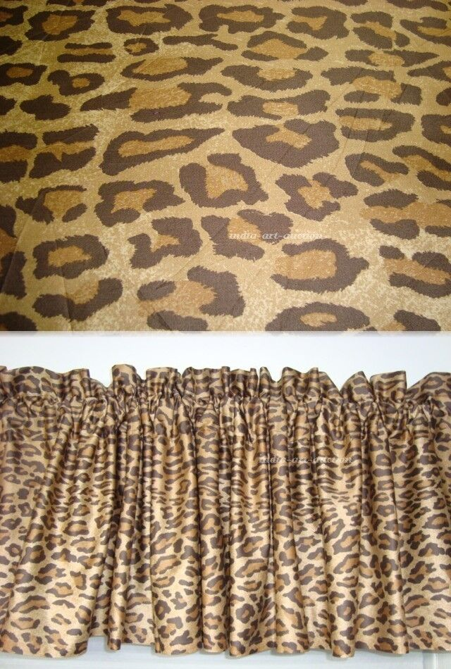 WINDOW VALANCE M/W NEW RALPH LAUREN VENETIAN COURT LEOPARD FABRIC ...
